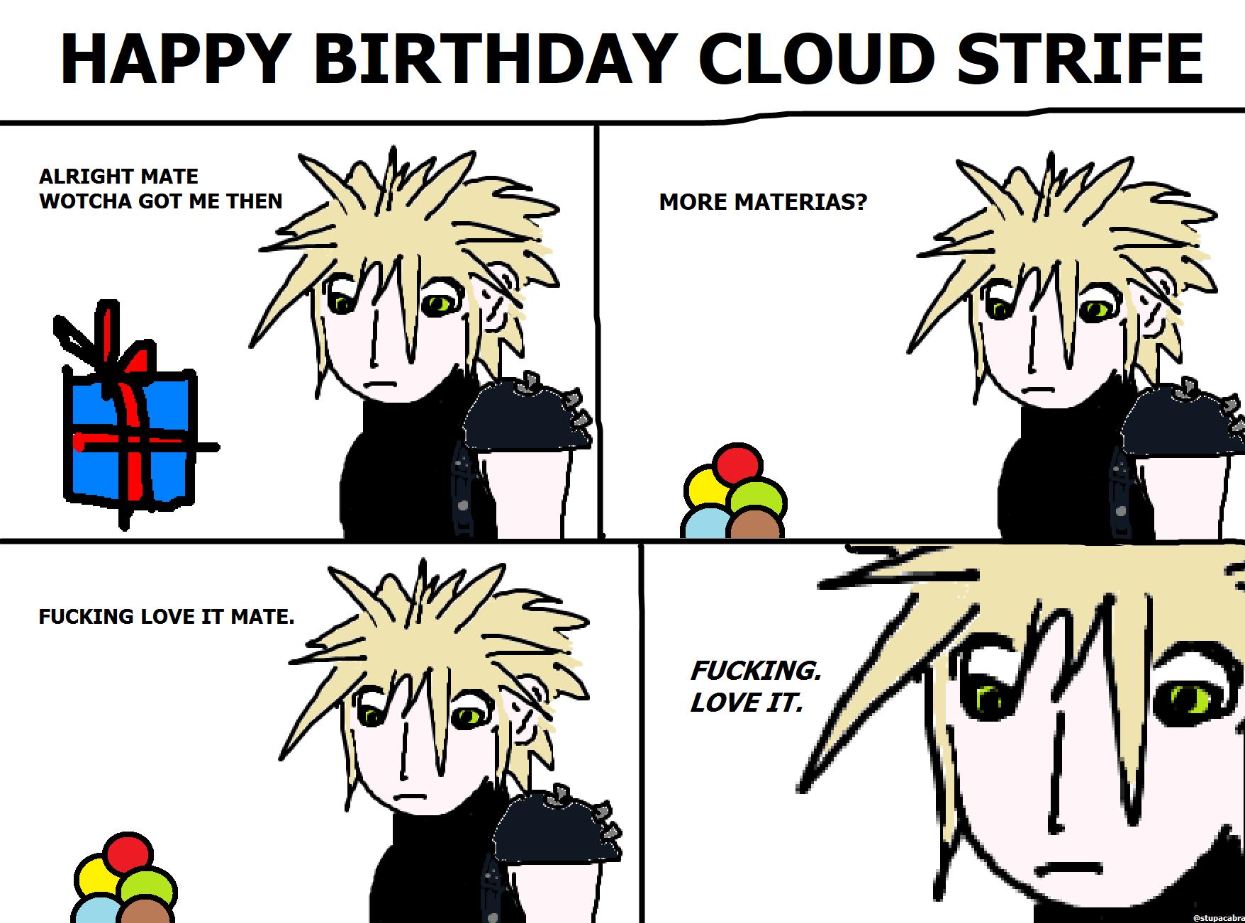 454. Happy Birthday Cloud Strife