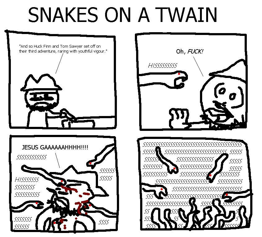 9. Snakes on a Twain